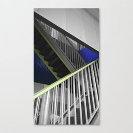 Paris stairs painter black and white with color Canvas Print