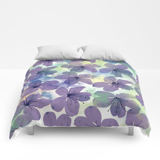 Floral Pattern #4 Comforters