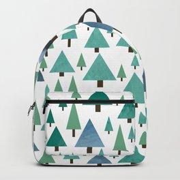 Watercolor Christmas Trees Backpack