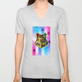 HOGWARTS ABSTRACT TRIANGLE Unisex V-Neck