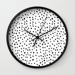 Snowstorm Black and White Wall Clock