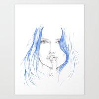 Navy Girl Art Print