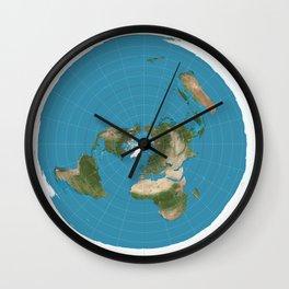 Flat Earth Map  Wall Clock