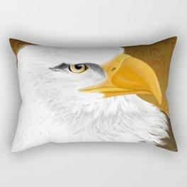 Eagle Face Rectangular Pillow
