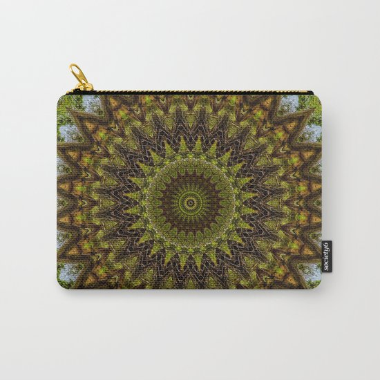 Kaleidoscope No. 6 - Green Carry-All Pouch