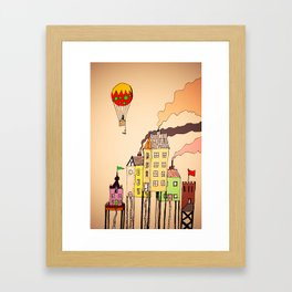 Quirky Town Framed Art Print