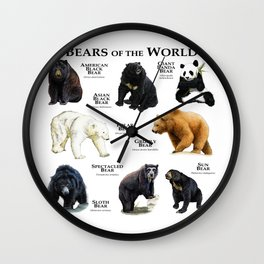 Bears of the World Wall Clock