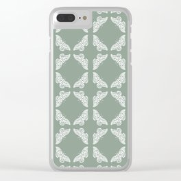 Pewter Arts and Crafts Butterflies Clear iPhone Case
