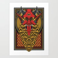 diablo Art Prints featuring DIABLO by MIRKOW GASTOW