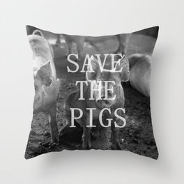 Save the Pigs Throw Pillow