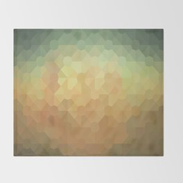 Nature's Glowing Geometric Abstract Throw Blanket