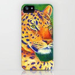Colorful Leopard Big Cat Wild Cat iPhone Case