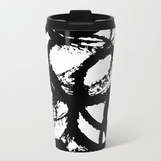 Dance Black and White Metal Travel Mug