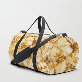 Gold marble pattern Duffle Bag