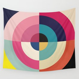 Summer - Colorful Classic Abstract Minimal Retro 70s Style Graphic Design Wall Tapestry