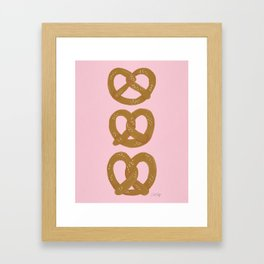 Pretzel Pattern – Blush Framed Art Print