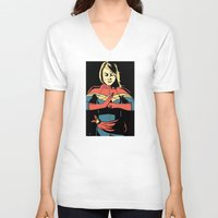 captain V-neck T-shirts featuring Captain by Shop 5