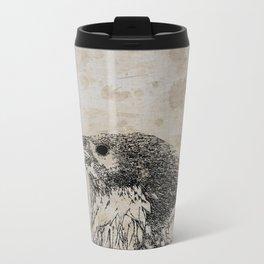 Raven Sketch Metal Travel Mug