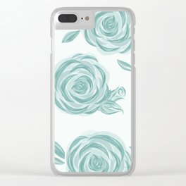 Soft and Elegant Roses Clear iPhone Case