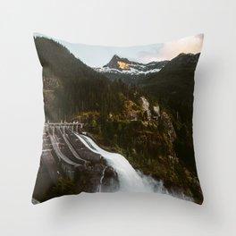 Mountain Dam Spillway Throw Pillow