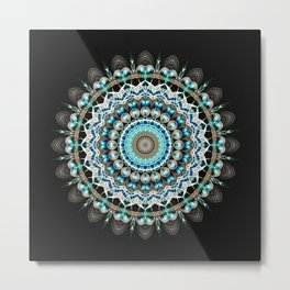 Mandala antique jewelry Metal Print