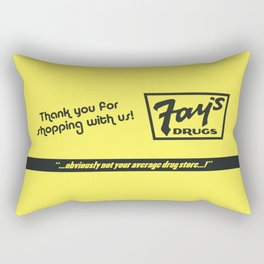 Fay's Drugs | the Immortal Yellow Bag Rectangular Pillow