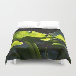 Green Contrast - Light and Dark Duvet Cover