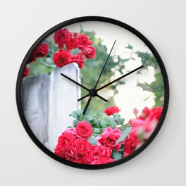 On the Fence Wall Clock
