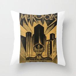 Metropolis, Fritz Lang, 19, vintage movie poster Throw Pillow
