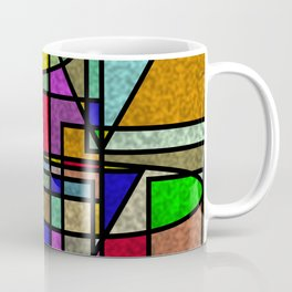 Abstract Stained Glass Coffee Mug