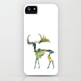Deer Skeleton iPhone Case