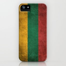 Old and Worn Distressed Vintage Flag of Lithuania iPhone Case