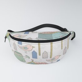 Adorable and Lovely Birds Pattern Fanny Pack