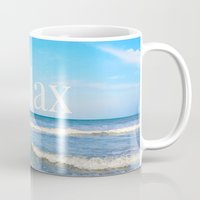relax Mugs featuring Relax by JuniqueStudio