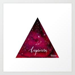 Capricorn - Astrology Mixed Media Art Print