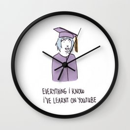 Everything I Know Wall Clock