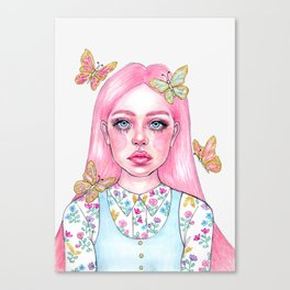 Little butterfly doll Canvas Print