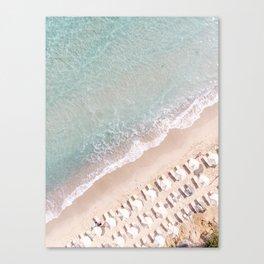 Vulisma Beach Crete, Greece   Drone Photography Pastel Colors Canvas Print