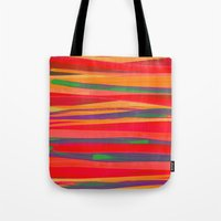 the strokes Tote Bags featuring Strokes by Rebecca Allen