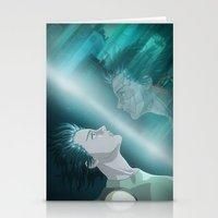 ghost in the shell Stationery Cards featuring Ghost in the Shell, fan poster by XDimov