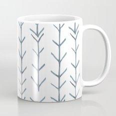 Twigs and branches freeform gray Mug