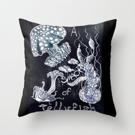 A Smack of Jellyfish Throw Pillow