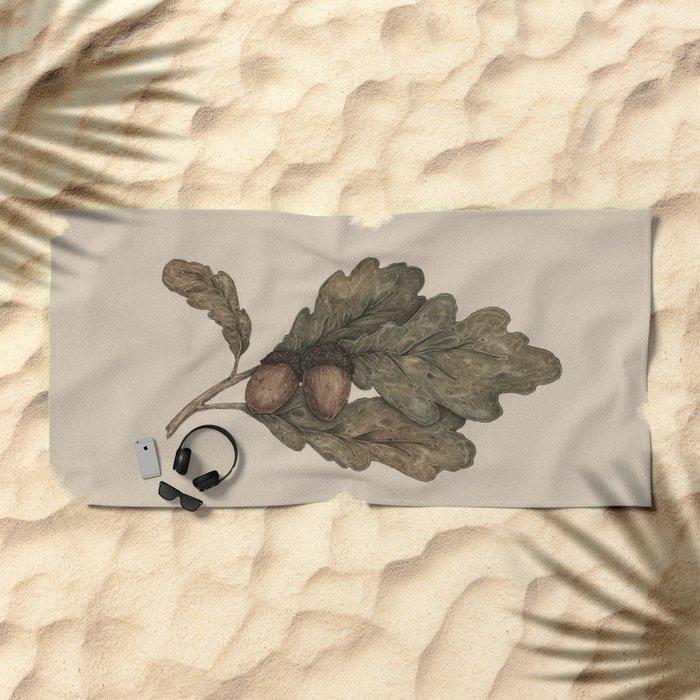 Acorns Beach Towel