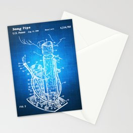 Bong Patent Blueprint Drawing Stationery Cards