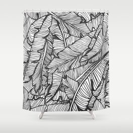 Black & White Jungle #society6 #decor #buyart Shower Curtain