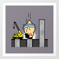 Part Time Job - Piling Construction Art Print