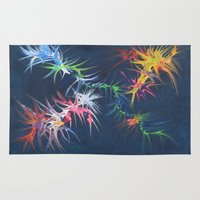 fireworks Area & Throw Rugs featuring fireworks by TLCGATOR