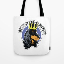 Black and tan cocker spaniel head Tote Bag