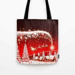 Santa Beautiful Christmas Tote Bag