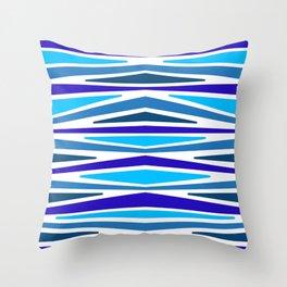 "Blue Berry Stripes"" | Stripe Pattern Throw Pillow"